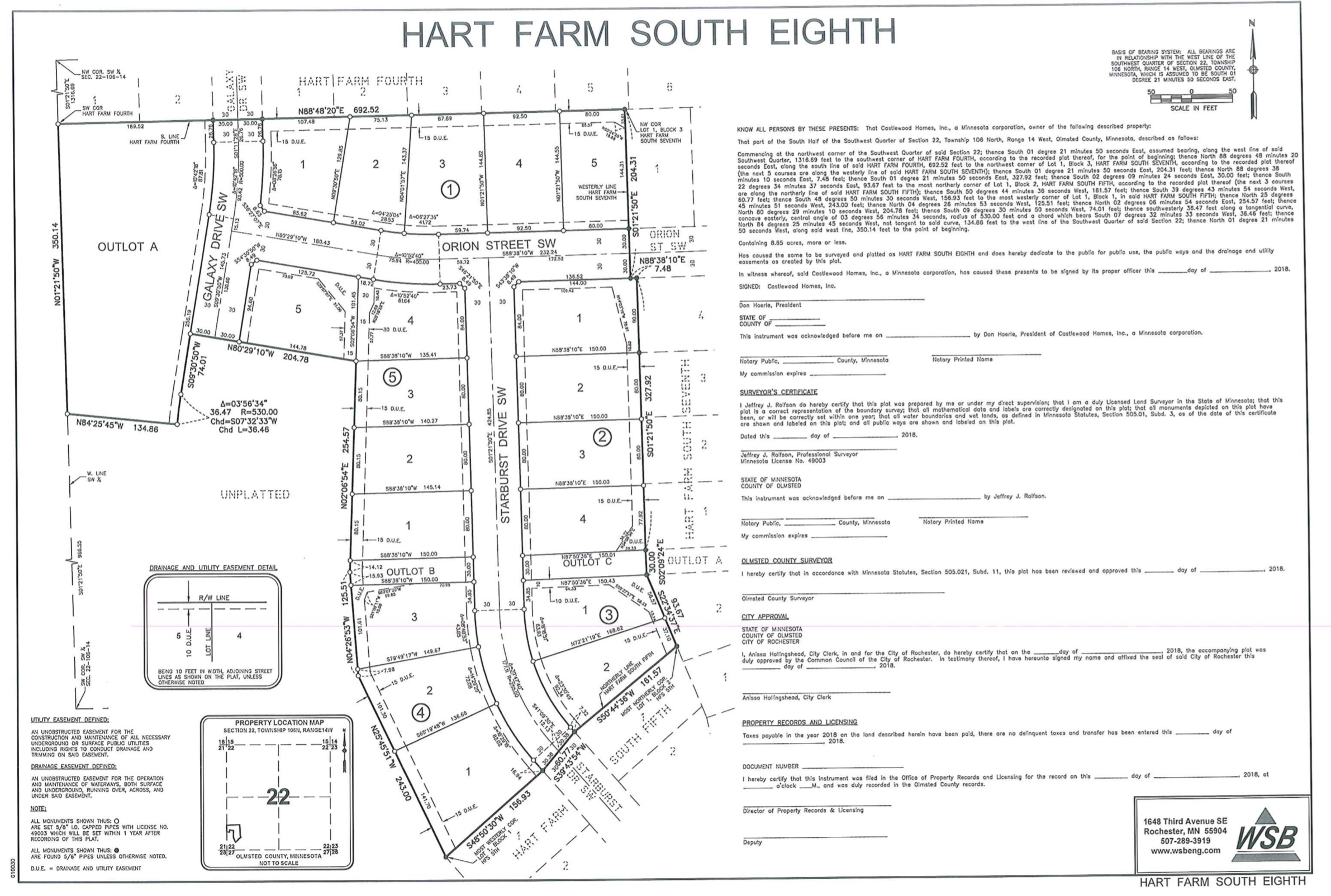 Overall Site Plan Hart Farm South Eighth